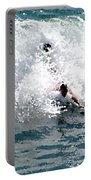 Body Surfing The Ocean Waves Portable Battery Charger