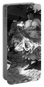Bolivian Dance Black And White Portable Battery Charger