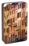 Bologna Window Balcony Texture Colorful Italy Buildings Portable Battery Charger