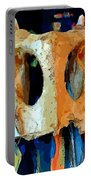 Bone And Paint Abstract Portable Battery Charger