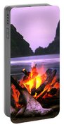 Bonfire On The Beach, Point Of The Portable Battery Charger