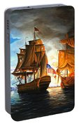 Bonhomme Richard Engaging The Serapis In Battle Portable Battery Charger