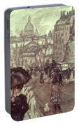 Bonnard: Place Clichy, C1895 Portable Battery Charger