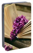 Book And Flower Portable Battery Charger