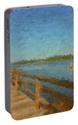 Boothbay Front Ocean View At Sunrise Portable Battery Charger