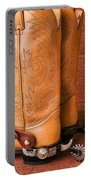 Boots With Spurs Portable Battery Charger