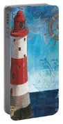 Bord De Mer Portable Battery Charger by Debbie DeWitt