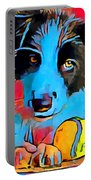 Border Collie Portable Battery Charger