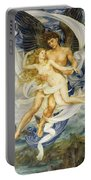 Boreas And Oreithyia Portable Battery Charger by Evelyn De Morgan
