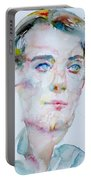 Bosie - Lord Alfred Douglas - Watercolor Portrait Portable Battery Charger