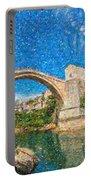 Bosnia Mostar Herzegovina Europe Travel Landmark Portable Battery Charger