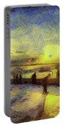 Bosphorus Sunset Art Portable Battery Charger