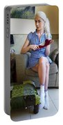 Bossy Schoolgirl Portable Battery Charger