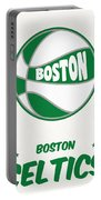 Boston Celtics Vintage Basketball Art Portable Battery Charger