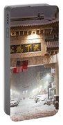 Boston Chinatown Gate During Snowsstorm Skylar Boston Ma Portable Battery Charger