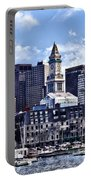 Boston Ma - Skyline With Custom House Tower Portable Battery Charger