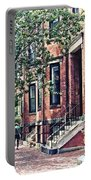 Boston Ma - Walking The Dog On Mount Vernon Street Portable Battery Charger