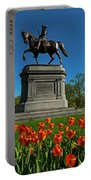 Boston Public Garden Tulips Boston Ma Portable Battery Charger