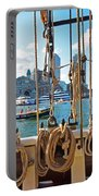 Boston Skyline From The Boston Harbor Portable Battery Charger