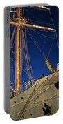 Boston Tall Ship Flags Boston Ma Sailors Blue Sky Portable Battery Charger