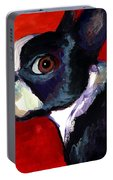 Boston Terrier Dog Portrait 2 Portable Battery Charger