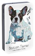 Boston Terrier Pop Art Portable Battery Charger