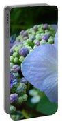 Botanical Garden Blue Hydrangea Flowers Baslee Troutman Portable Battery Charger