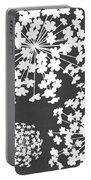 Botanicals Grey Portable Battery Charger