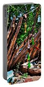 Bottle Fence In Golden New Mexico Portable Battery Charger