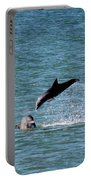 Bottlenose Dolphins In The Ocean Portable Battery Charger