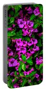 Bougainvillea Floral Print Portable Battery Charger