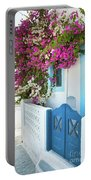 Bougainvillea In Santorini Island Portable Battery Charger