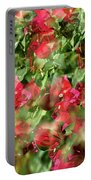 Bougainvillea Repeating Pattern Abstract I Portable Battery Charger