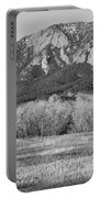 Boulder Colorado Flatiron View From Jay Rd Bw Portable Battery Charger
