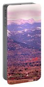 Boulder Colorado Sunrise Panorama Portable Battery Charger
