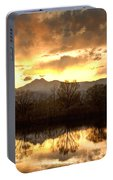 Boulder County Sunset Reflection Portable Battery Charger