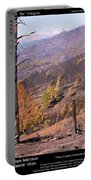 Boulder County Wildfire 5 Miles West Of Downtown Boulder Portable Battery Charger