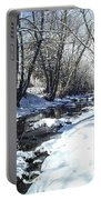 Boulder Creek After A Snowstorm Portable Battery Charger