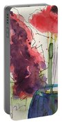 Bouquet Abstract 1 Portable Battery Charger