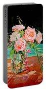 Bouquet De Roses - Marrakech Portable Battery Charger