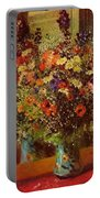 Bouquet In Front Of A Mirror 1877 Portable Battery Charger