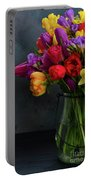 Spring Flowers In Vase Portable Battery Charger
