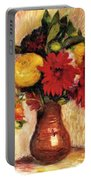 Bouquet Of Flowers In An Earthenware Pitcher Portable Battery Charger