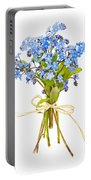 Bouquet Of Forget-me-nots Portable Battery Charger