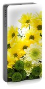 Bouquet Of Fresh Spring Flowers Isolated On White Portable Battery Charger