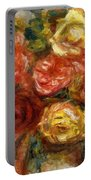 Bouquet Of Roses In A Vase 1900 Portable Battery Charger