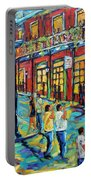 Bourbon Street New Orleans By Prankearts Portable Battery Charger