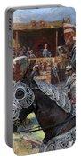 Bouvier Des Flandres - Flandres Cattle Dog Art Canvas Print - Knights Tournir Portable Battery Charger