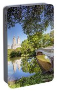 Bow Bridge In Spring, Central Park, Manhattan, New York, Usa Portable Battery Charger