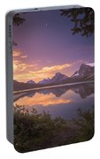 Bow Lake At Dawn Portable Battery Charger